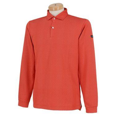 タイトリスト Titleist ヘリンボーン柄 ストレッチ 長袖 メンズ ポロシャツ TWMC2010 2020年モデル オレンジ(OR)