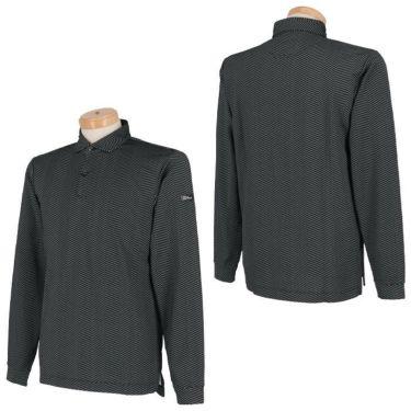 タイトリスト Titleist ヘリンボーン柄 ストレッチ 長袖 メンズ ポロシャツ TWMC2010 2020年モデル 詳細3