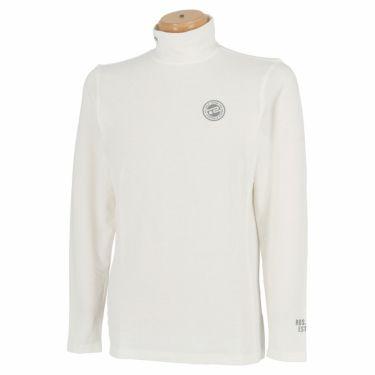 ロサーセン Rosasen メンズ ロゴプリント 起毛素材 長袖 ハイネック インナーシャツ 044-25912 2021年モデル オフホワイト(05)