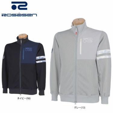 ロサーセン Rosasen メンズ ロゴプリント 生地切替 長袖 フルジップ ブルゾン 044-55811 2021年モデル 詳細1