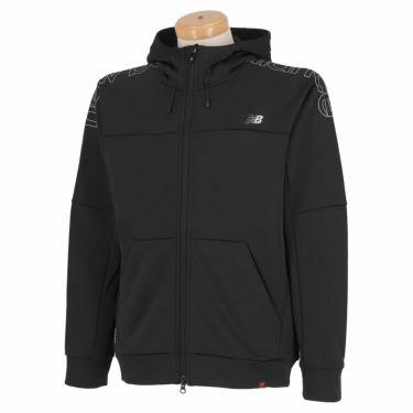 ニューバランスゴルフ メンズ SPORT ロゴプリント ストレッチ 長袖 フルジップ パーカー 012-1262002 2021年モデル ブラック(010)