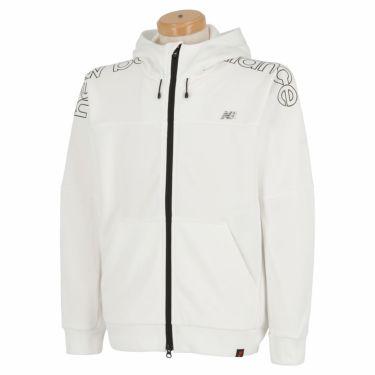 ニューバランスゴルフ メンズ SPORT ロゴプリント ストレッチ 長袖 フルジップ パーカー 012-1262002 2021年モデル ホワイト(030)
