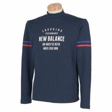 ニューバランスゴルフ メンズ METRO ストレッチ 長袖 モックネックシャツ 012-1267004 2021年モデル ネイビー(120)