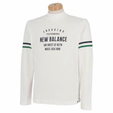 ニューバランスゴルフ メンズ METRO ストレッチ 長袖 モックネックシャツ 012-1267004 2021年モデル ホワイト(030)