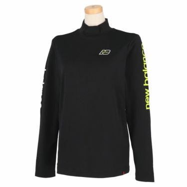 ニューバランスゴルフ レディース SUNNY PAC ストレッチ 長袖 モックネックシャツ 012-1267505 2021年モデル ブラック(010)