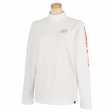 ニューバランスゴルフ レディース SUNNY PAC ストレッチ 長袖 モックネックシャツ 012-1267505 2021年モデル ホワイト(030)
