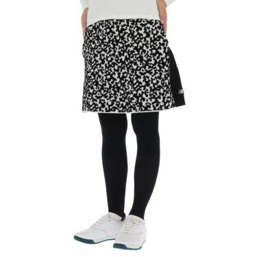 ニューバランスゴルフ レディース SPORT カモフラージュ柄 ストレッチ スカート 012-1234510 2021年モデル ブラック×ホワイト(011)
