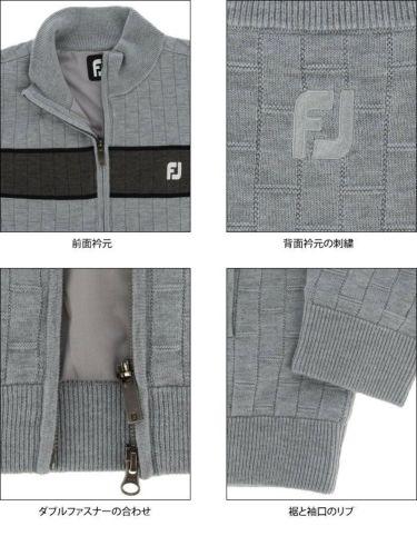 フットジョイ FootJoy メンズ 防風 ストレッチ 長袖 フルジップ セーター FJ-F20-O06 2020年モデル 詳細4