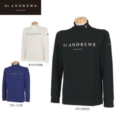 セントアンドリュース St ANDREWS メンズ ロゴプリント ベア天竺 長袖 ハイネックシャツ 042-1266951 2021年モデル 詳細1
