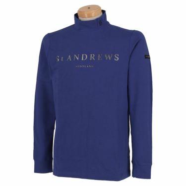 セントアンドリュース St ANDREWS メンズ ロゴプリント ベア天竺 長袖 ハイネックシャツ 042-1266951 2021年モデル ブルー(110)