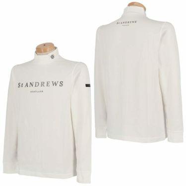 セントアンドリュース St ANDREWS メンズ ロゴプリント ベア天竺 長袖 ハイネックシャツ 042-1266951 2021年モデル 詳細3