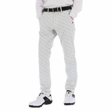 セントアンドリュース St ANDREWS メンズ 総柄 モノグラムプリント ストレッチ ロングパンツ 042-1231951 2021年モデル [裾上げ対応1●] ホワイト(030)
