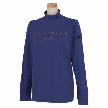 セントアンドリュース St ANDREWS レディース ロゴプリント ベア天竺 長袖 ハイネックシャツ 043-1266952 2021年モデル ブルー(110)
