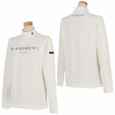 セントアンドリュース St ANDREWS レディース ロゴプリント ベア天竺 長袖 ハイネックシャツ 043-1266952 2021年モデル 詳細3