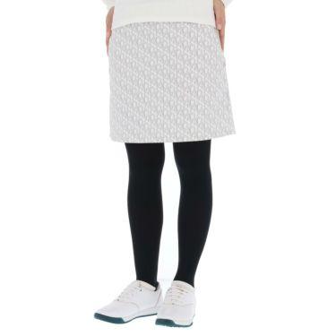 セントアンドリュース St ANDREWS レディース 総柄 モノグラムプリント ストレッチ スカート 043-1234952 2021年モデル ホワイト(030)