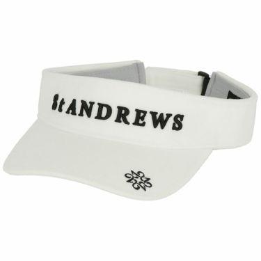 セントアンドリュース St ANDREWS ユニセックス 立体ロゴ刺繍 起毛素材 サンバイザー 042-1287052 030 ホワイト 2021年モデル ホワイト(030)
