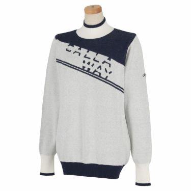 キャロウェイ Callaway レディース ロゴジャガード 配色切替 長袖 ハイネック セーター C21218202 2021年モデル ホワイト(1030)