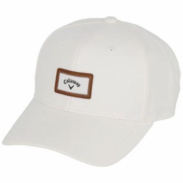 キャロウェイ Callaway メンズ ロゴワッペン モールスキン キャップ C21291102 1030 ホワイト 2021年モデル ホワイト(1030)