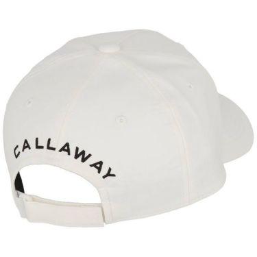 キャロウェイ Callaway メンズ ロゴワッペン モールスキン キャップ C21291102 1030 ホワイト 2021年モデル 詳細1