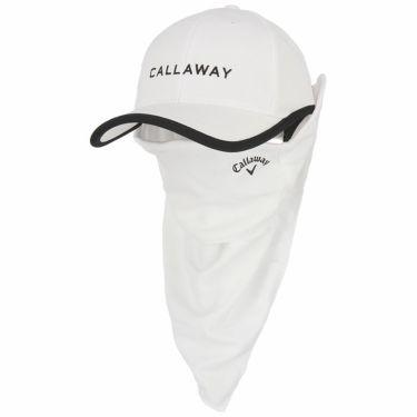 キャロウェイ Callaway レディース ロゴ刺繍 フェイスマスク付き キャップ C21291203 1030 ホワイト 2021年モデル ホワイト(1030)