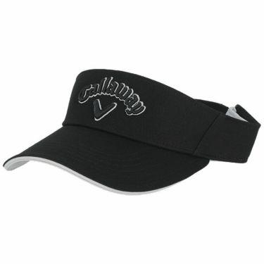 キャロウェイ Callaway レディース 立体ロゴ刺繍 コットンツイル サンバイザー 241-1991809 010 ブラック 2021年モデル ブラック(010)