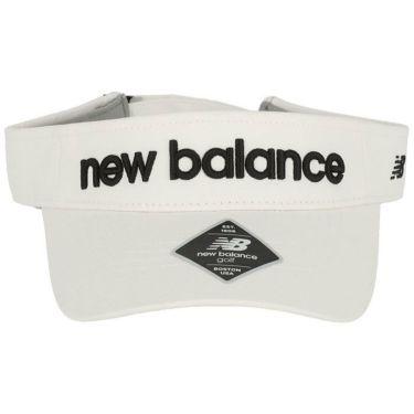 ニューバランスゴルフ SPORT コットンツイル ユニセックス サンバイザー 012-1987002 030 ホワイト 2021年モデル 詳細2