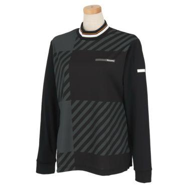 ブラック&ホワイト Black&White ホワイトライン レディース チェック柄 長袖 モックネックシャツ BLF9201WD 2021年モデル ブラック(20)