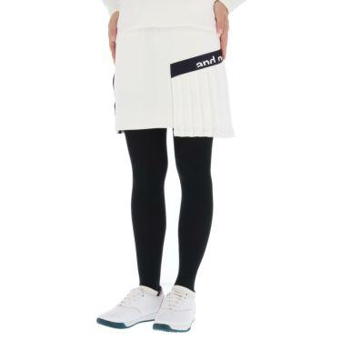 アンパスィ and per se レディース ロゴプリント ストレッチ プリーツ スカート AFF4001J1 2021年モデル ホワイト(10)
