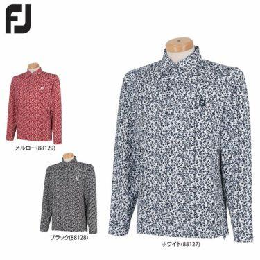 フットジョイ FootJoy メンズ 総柄 フラワープリント 長袖 ボタンダウン ポロシャツ FJ-F21-S07 2021年モデル 詳細1