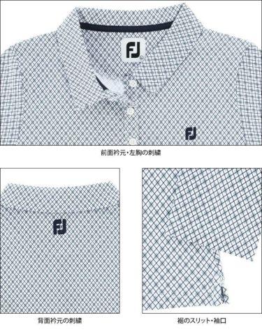 フットジョイ FootJoy レディース アーガイル柄 長袖 ポロシャツ FJW-F21-S06 2021年モデル 詳細4