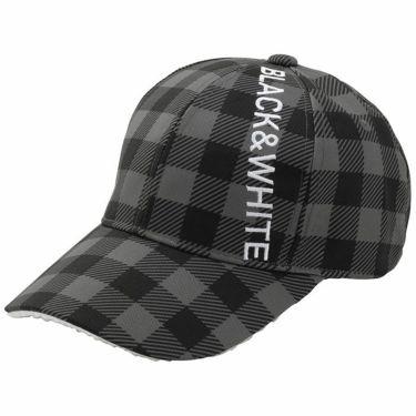 ブラック&ホワイト Black&White ホワイトライン レディース ロゴ刺繍 ギンガムチェック柄 キャップ BLF8471W 20 ブラック 2021年モデル ブラック(20)