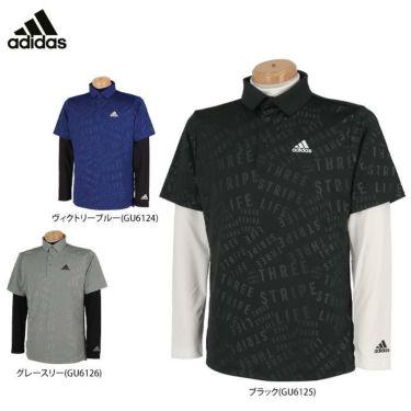 アディダス adidas メンズ PRIMEGREEN タイポグラフィ柄 半袖 ポロシャツ & 長袖 モックネックシャツ BO104 2021年モデル 詳細1