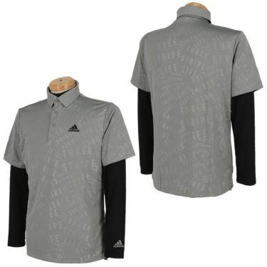 アディダス adidas メンズ PRIMEGREEN タイポグラフィ柄 半袖 ポロシャツ & 長袖 モックネックシャツ BO104 2021年モデル 詳細3
