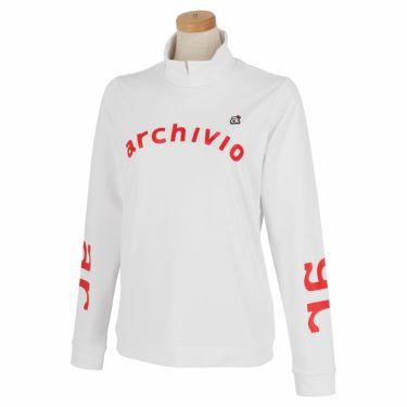 アルチビオ archivio レディース ストレッチ ロゴプリント 長袖 ハイネックシャツ A119807 2021年モデル ホワイト(090)