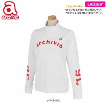 アルチビオ archivio レディース ストレッチ ロゴプリント 長袖 ハイネックシャツ A119807 2021年モデル 詳細2