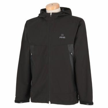 ピン PING メンズ 撥水 防風 メッシュ裏地 長袖 フード付き フルジップ ジャケット 621-1220002 2021年モデル ブラック(010)