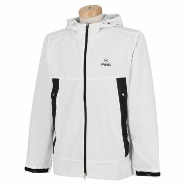 ピン PING メンズ 撥水 防風 メッシュ裏地 長袖 フード付き フルジップ ジャケット 621-1220002 2021年モデル ホワイト(030)