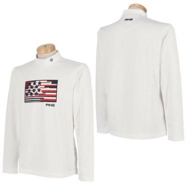 ピン PING メンズ プリントデザイン 長袖 モックネックシャツ 621-1269005 2021年モデル 詳細3