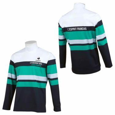 ルコック Le coq sportif メンズ マルチボーダー柄 長袖 ハイネックシャツ QGMSJB03 2021年モデル 詳細3