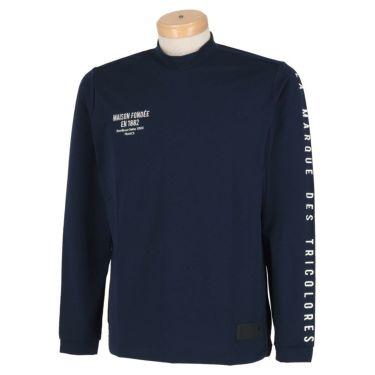 ルコック Le coq sportif メンズ ストレッチ 長袖 モックネックシャツ QGMSJB07 2021年モデル ネイビー(NV00)