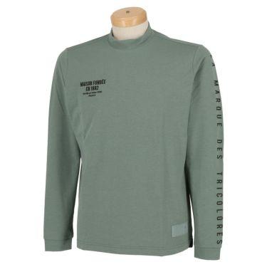 ルコック Le coq sportif メンズ ストレッチ 長袖 モックネックシャツ QGMSJB07 2021年モデル グリーン(GR00)