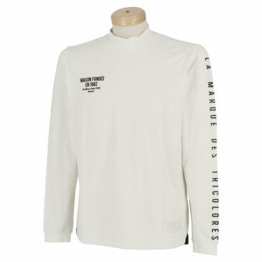 ルコック Le coq sportif メンズ ストレッチ 長袖 モックネックシャツ QGMSJB07 2021年モデル ホワイト(WH00)