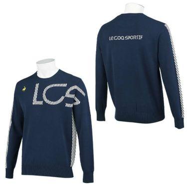 ルコック Le coq sportif メンズ アシンメトリーデザイン ロゴジャカード 長袖 クルーネック セーター QGMSJL00 2021年モデル 詳細3