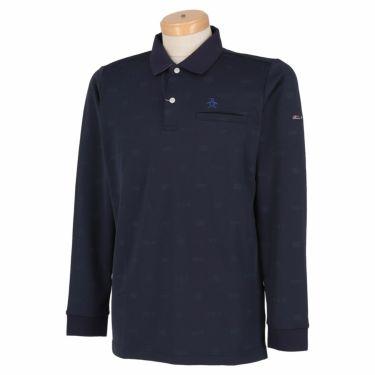 マンシングウェア Munsingwear メンズ 飛び柄 長袖 ポロシャツ MGMSJB03CH 2021年モデル ネイビー(NV00)