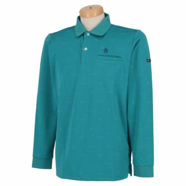 マンシングウェア Munsingwear メンズ 飛び柄 長袖 ポロシャツ MGMSJB03CH 2021年モデル エメラルド(EM00)
