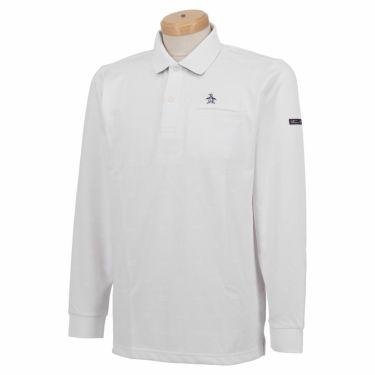 マンシングウェア Munsingwear メンズ 飛び柄 長袖 ポロシャツ MGMSJB03CH 2021年モデル ホワイト(WH00)