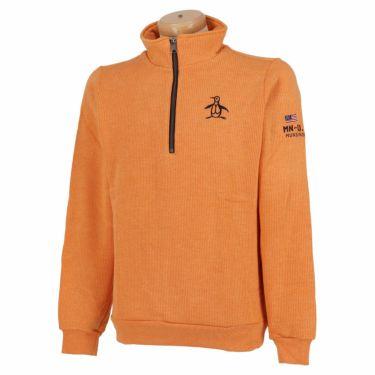 マンシングウェア Munsingwear メンズ 裏起毛 長袖 ハーフジップ セーター MGMSJL52CH 2021年モデル オレンジ(OR00)