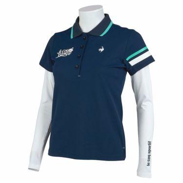 ルコック Le coq sportif レディース 半袖 ポロシャツ & 長袖 インナーシャツ QGWSJA05W 2021年モデル ネイビー(NV00)