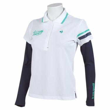 ルコック Le coq sportif レディース 半袖 ポロシャツ & 長袖 インナーシャツ QGWSJA05W 2021年モデル ホワイト(WH00)