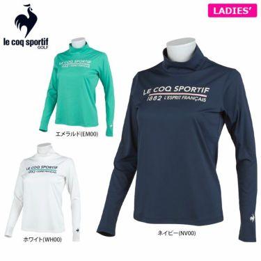 ルコック Le coq sportif レディース ロゴプリント 長袖 ハイネックシャツ QGWSJB01 2021年モデル 詳細1